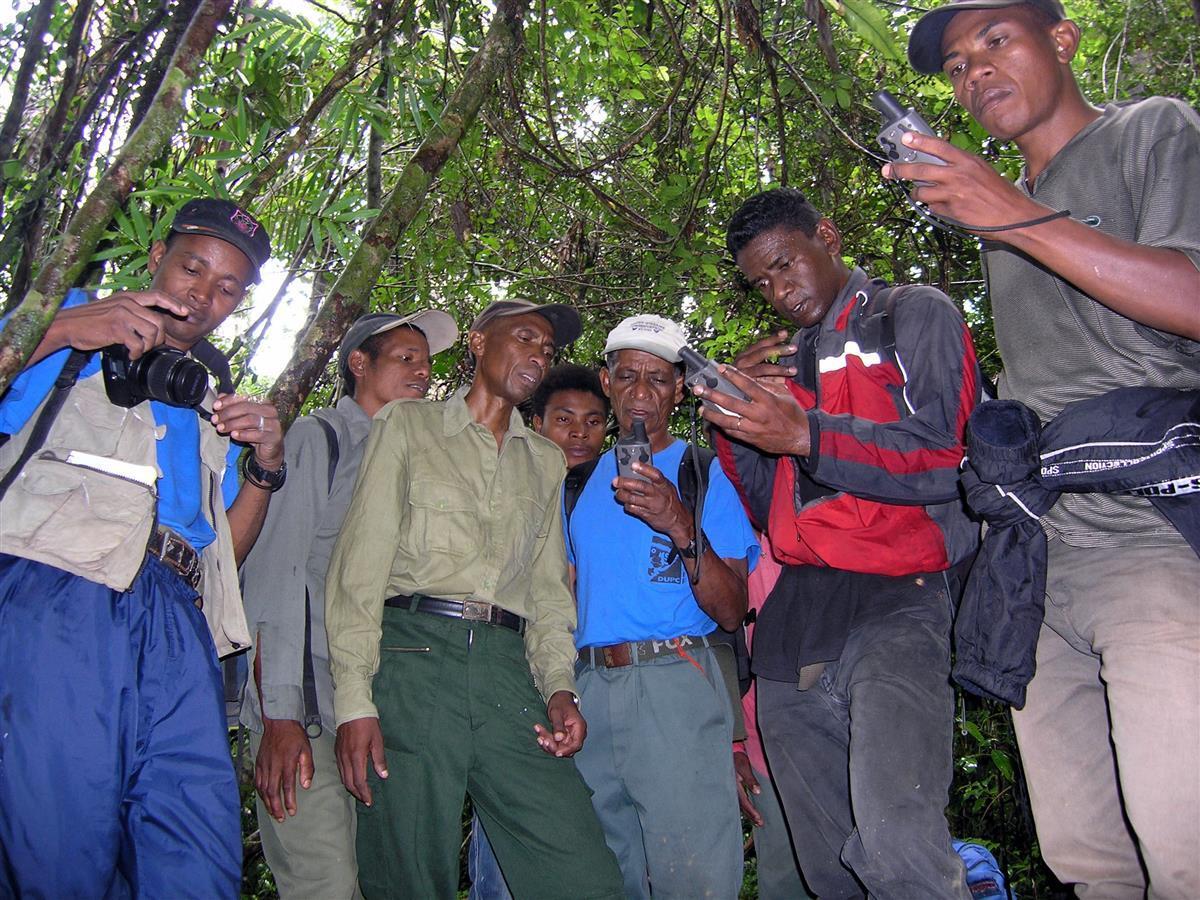 GPS training for MNP and MFG staff, RNI Betampona, Madagascar