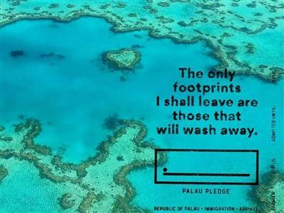 Sign the Palau pledge: eco-responsibility for tourists
