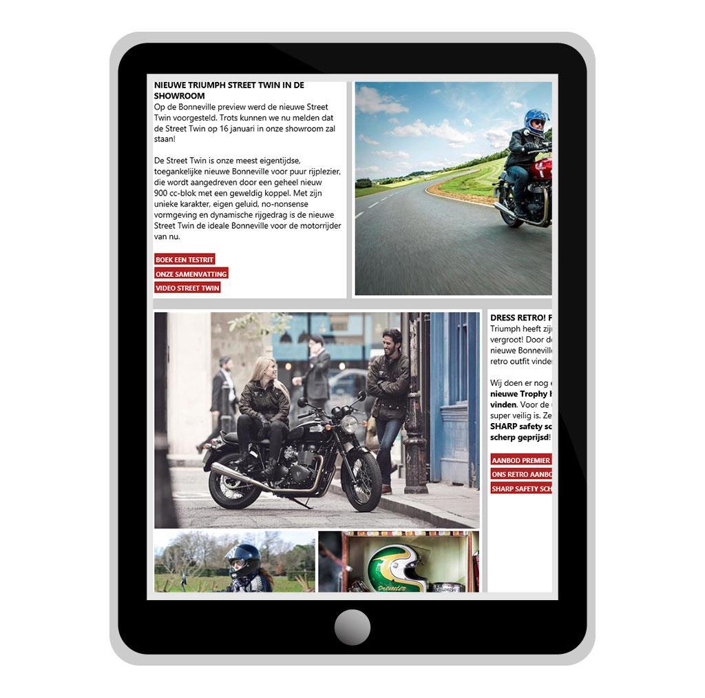 Nieuwsbrief voor TC Moto, Triumph dealer in Zaventem