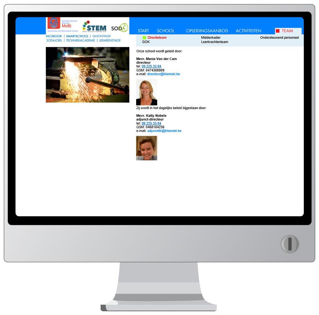 Website voor KTA MoBi Gent