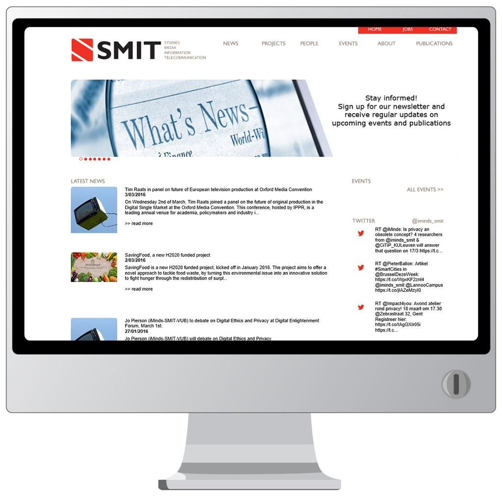 Website voor SMIT, Studies on Media, Information and Telecommunication