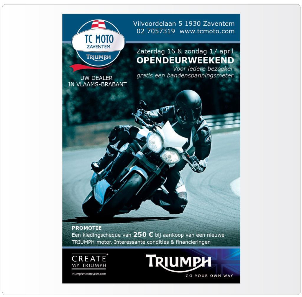 Opendeur weekend TC Moto Zaventem, Triumph motordealer