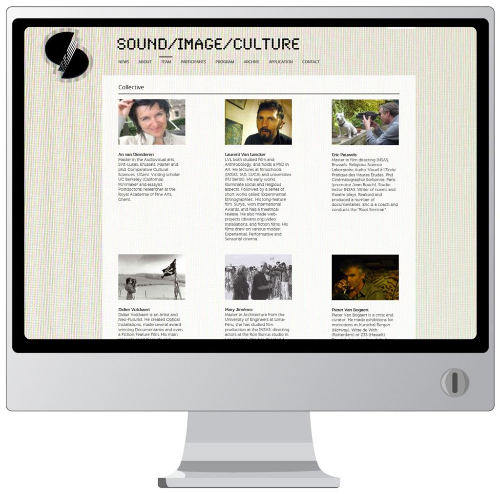 Website voor Sound Image Culture