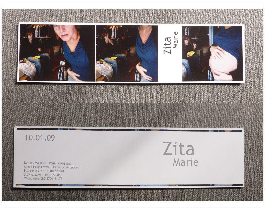 Birth card for Zita Marie