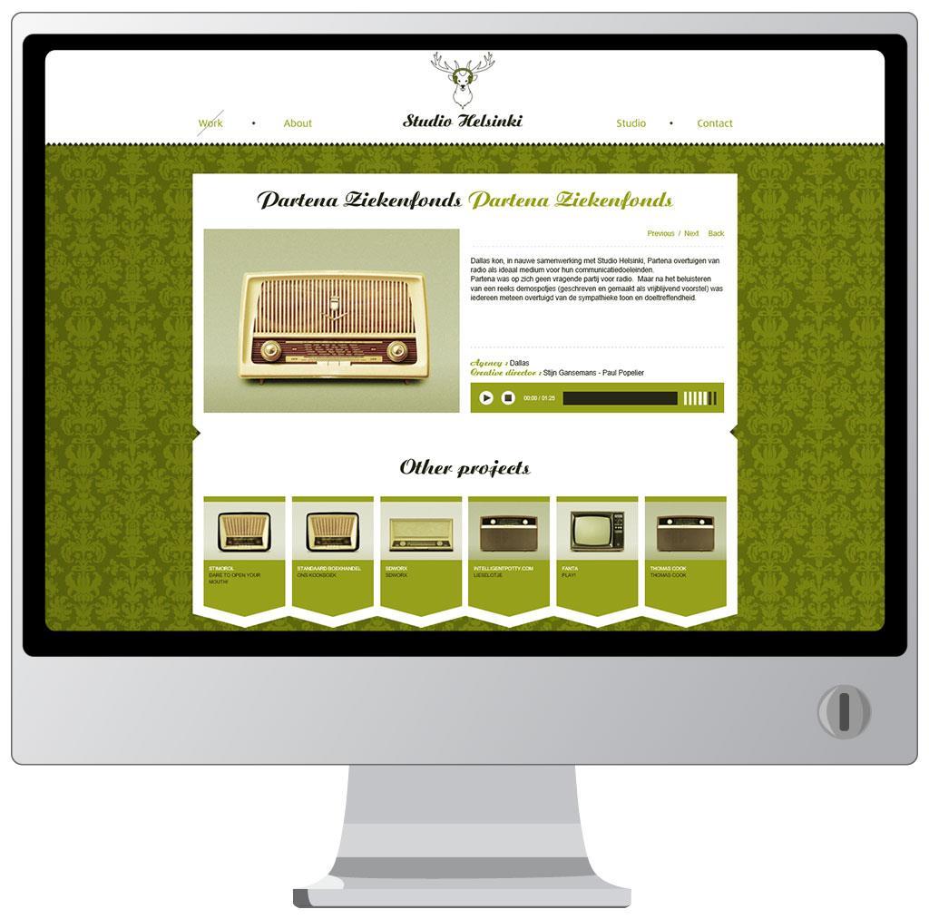 Website voor Studio Helsinki