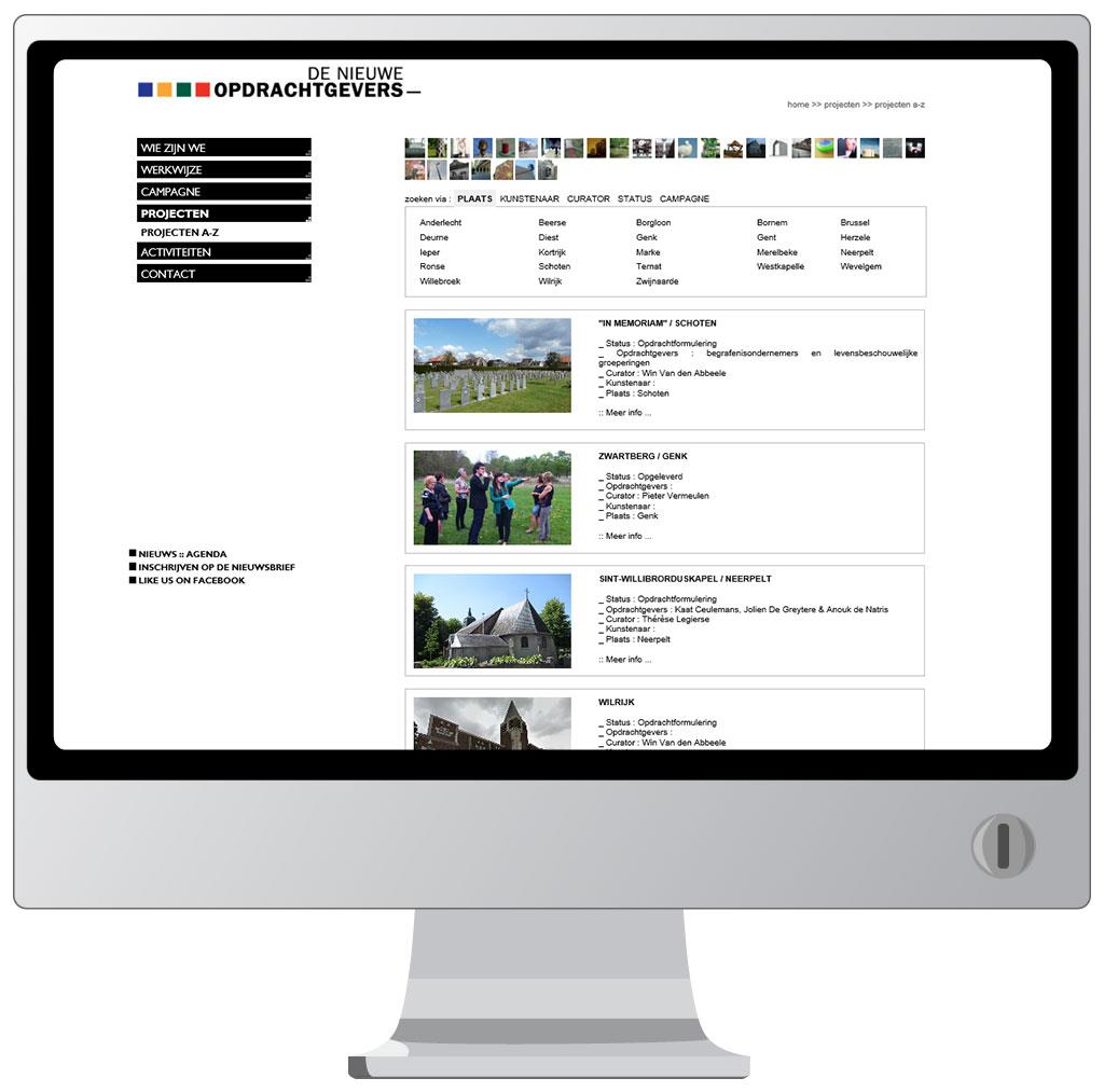 Website voor De Nieuwe Opdrachtgevers