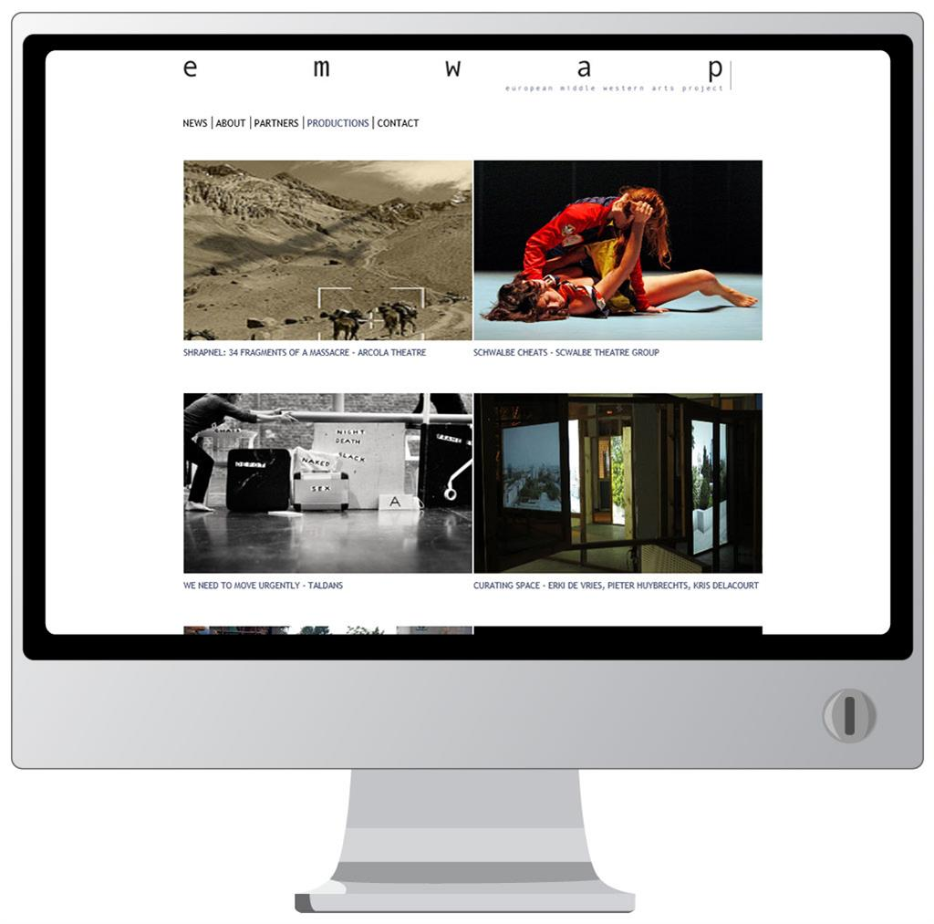 Website voor EMWAP - European Middle Western Arts Project