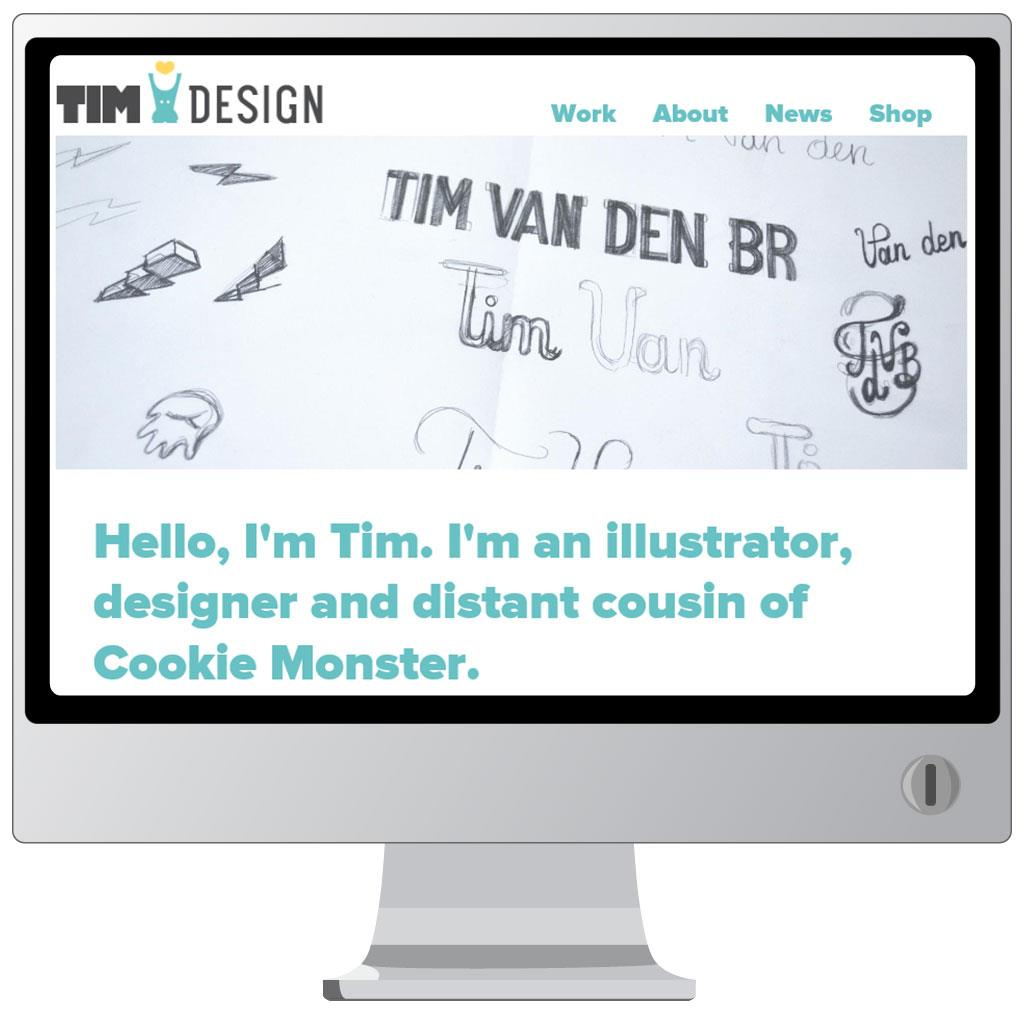Website van Tim Van den Broeck
