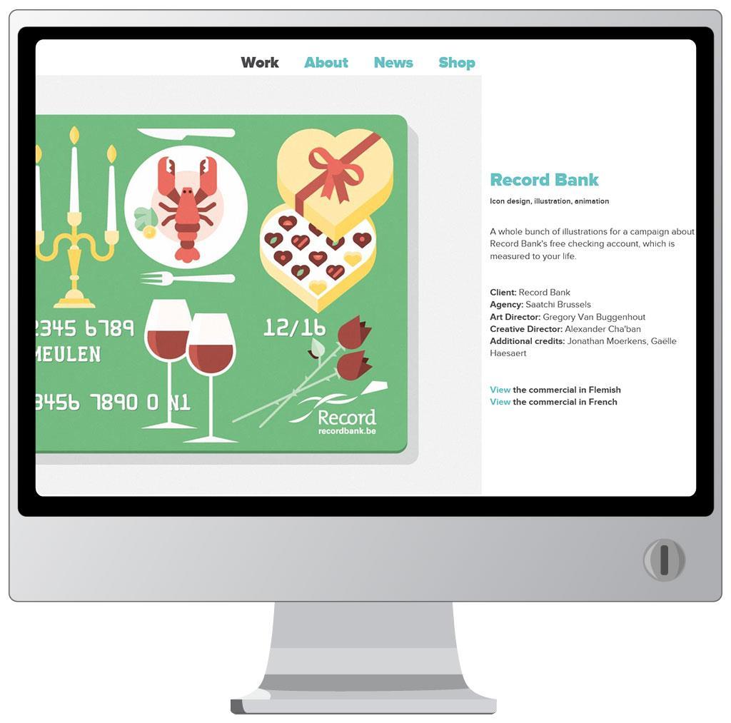 Website van Tim Van den Broeck