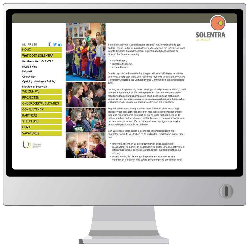 Website van Solentra