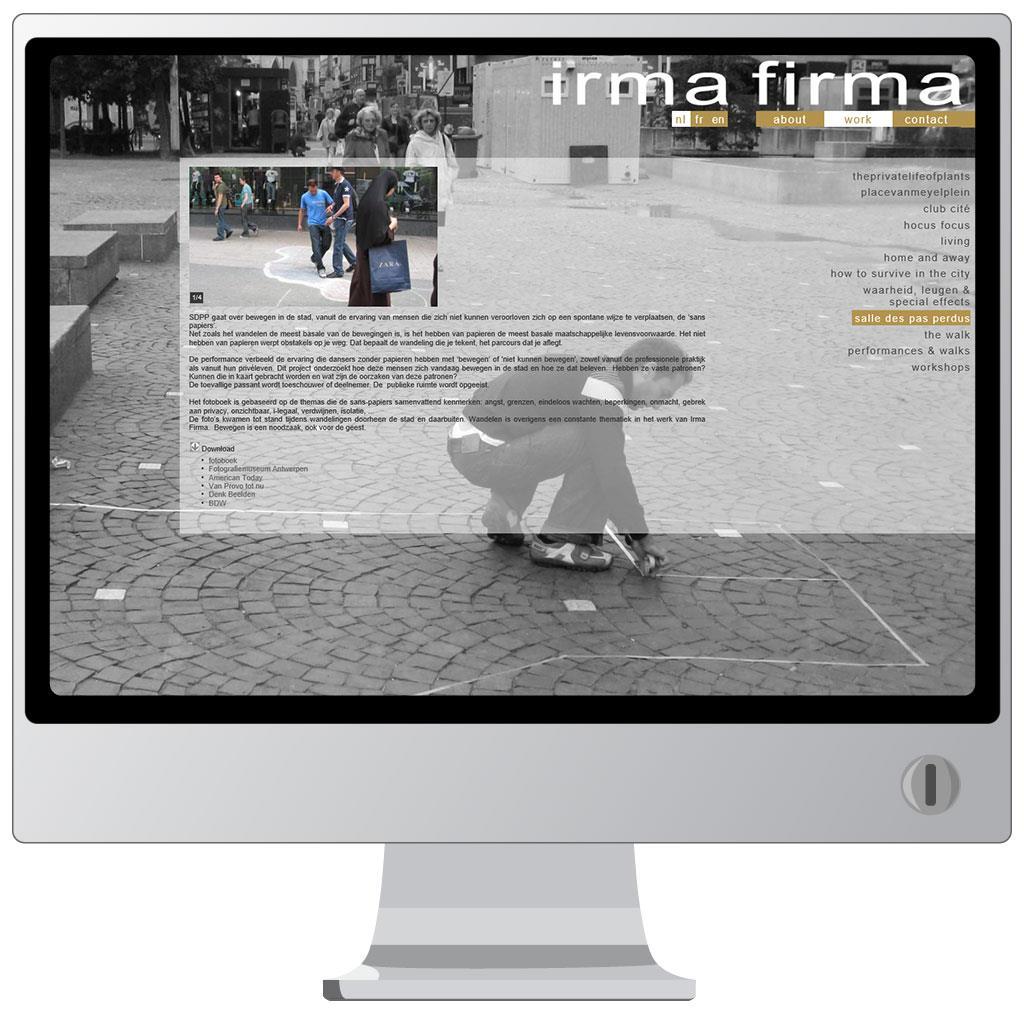 Website voor Irma Firma