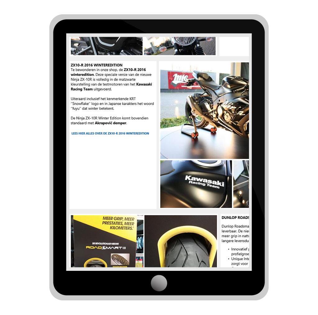 Nieuwsbrief voor Motors Thomas G., Triumph & Kawasaki motor dealer