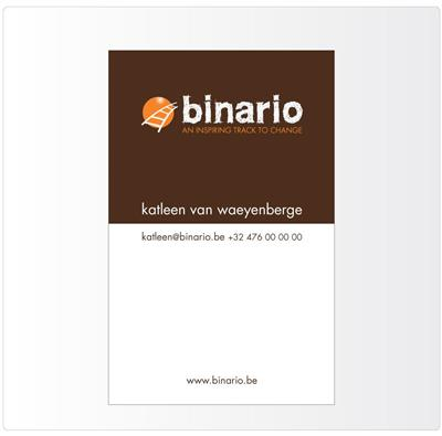 Binario business card