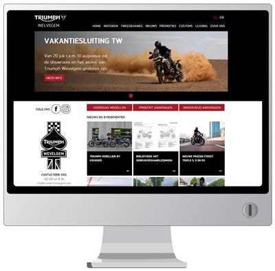 Triumph Wevelgem website